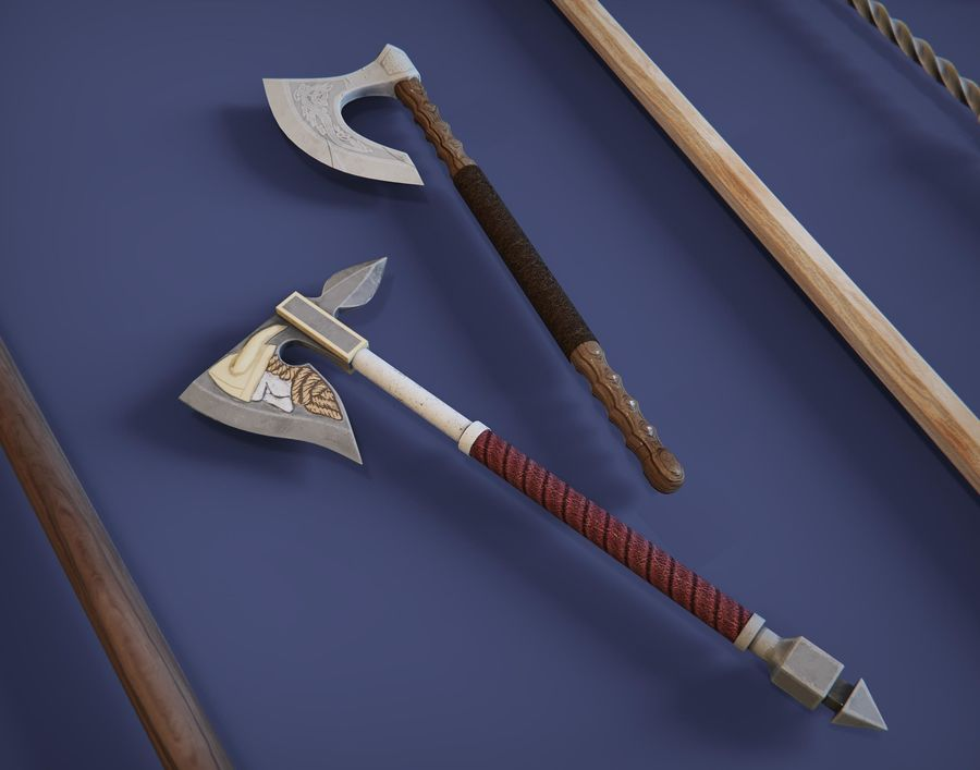 Medieval weapons royalty-free 3d model - Preview no. 2