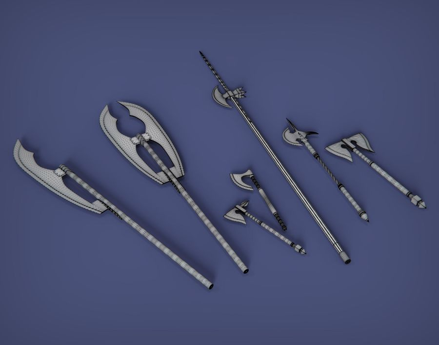 Medieval weapons royalty-free 3d model - Preview no. 7