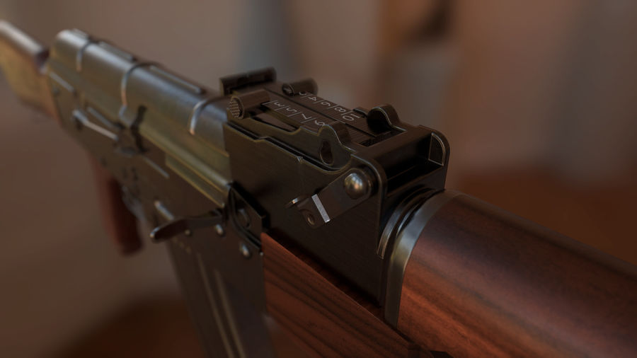 AK-47 royalty-free modelo 3d - Preview no. 4