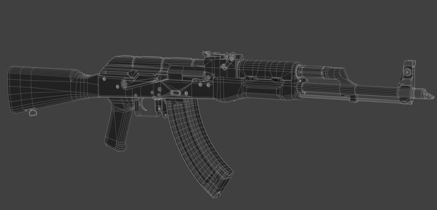 AK-47 royalty-free modelo 3d - Preview no. 6