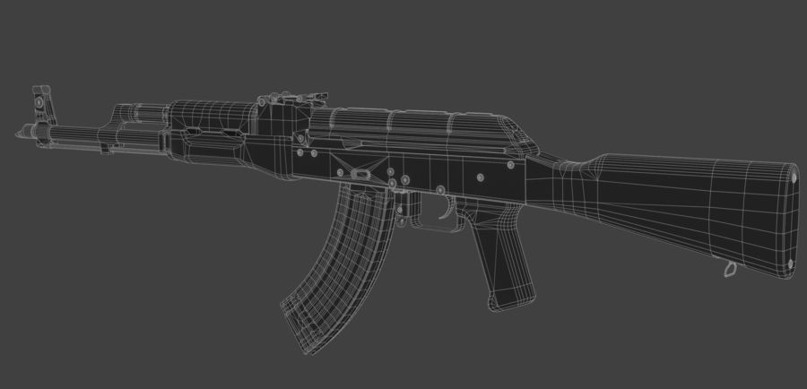 AK-47 royalty-free modelo 3d - Preview no. 7