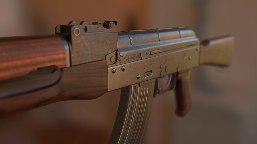 AK-47 royalty-free modelo 3d - Preview no. 3