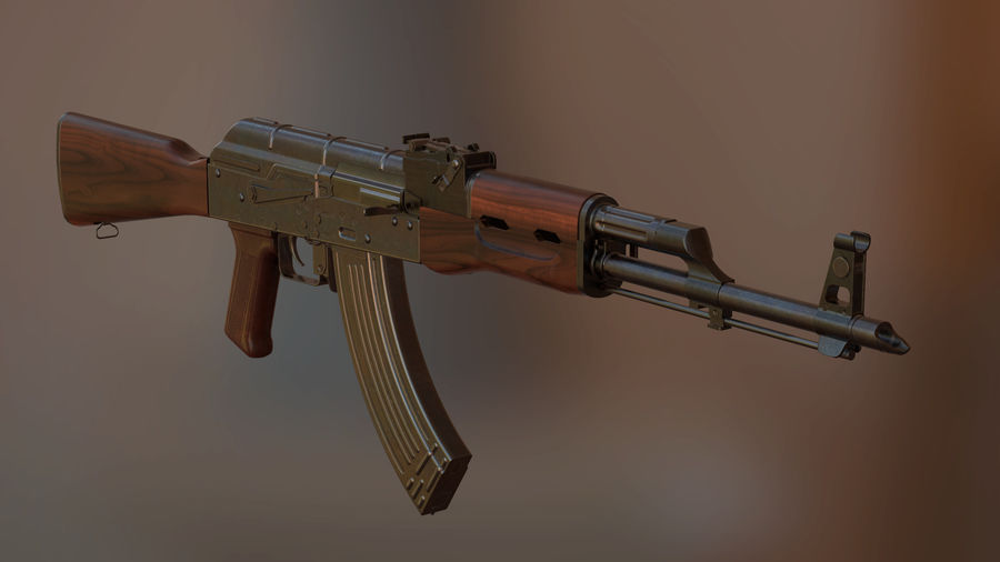 AK-47 royalty-free modelo 3d - Preview no. 1