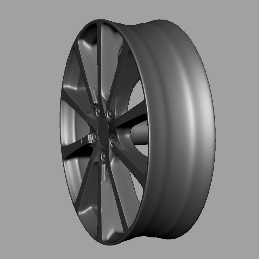 Alloy Wheel royalty-free 3d model - Preview no. 4