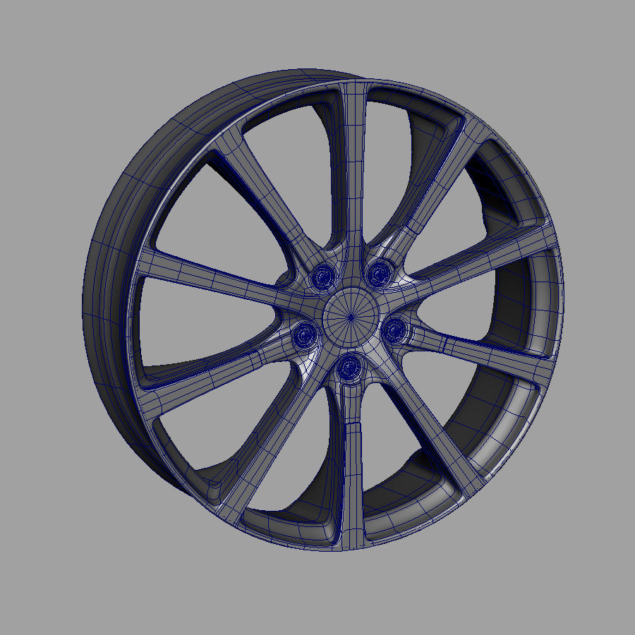 Alloy Wheel royalty-free 3d model - Preview no. 2
