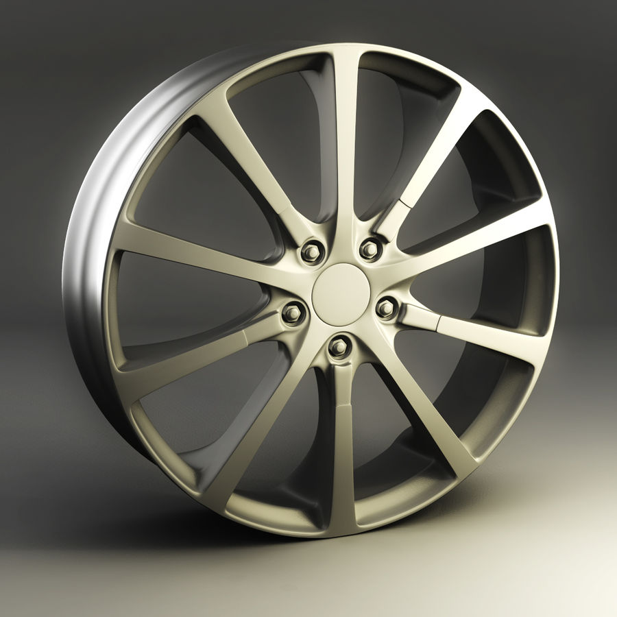 Alloy Wheel royalty-free 3d model - Preview no. 1