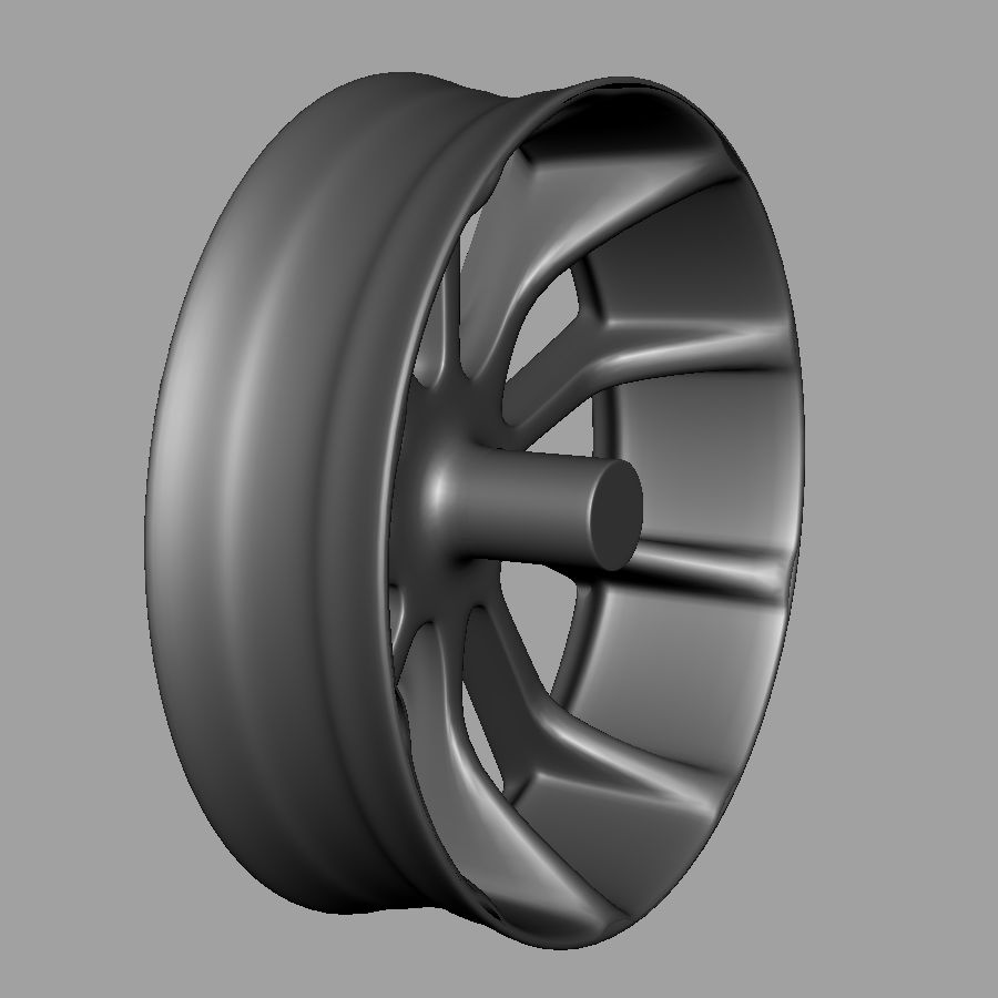 Alloy Wheel royalty-free 3d model - Preview no. 5