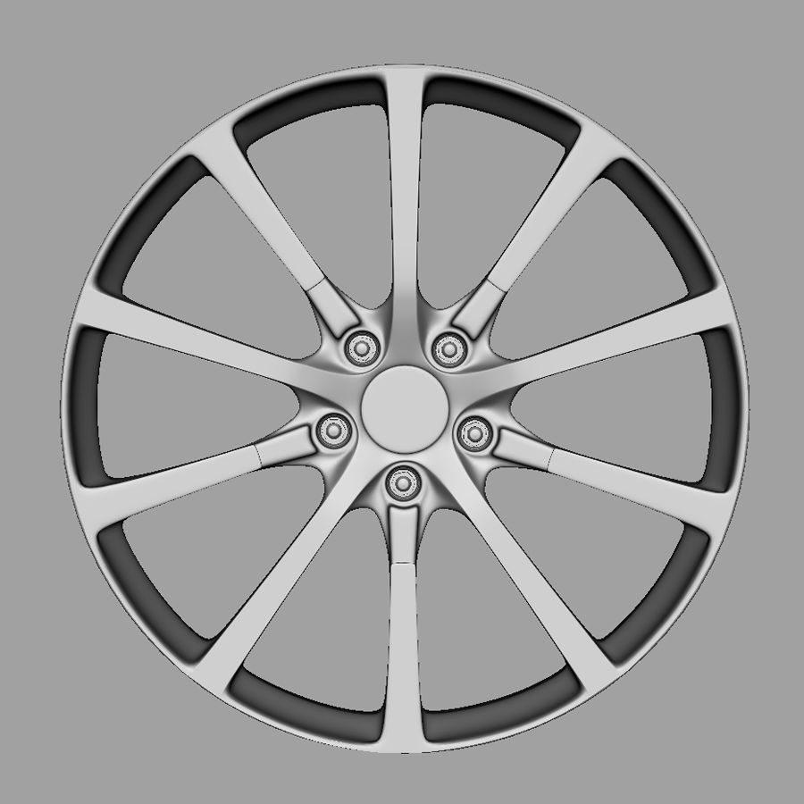 Alloy Wheel royalty-free 3d model - Preview no. 3