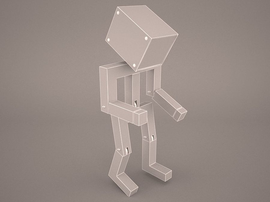 Droid Design Table Lamp royalty-free 3d model - Preview no. 3