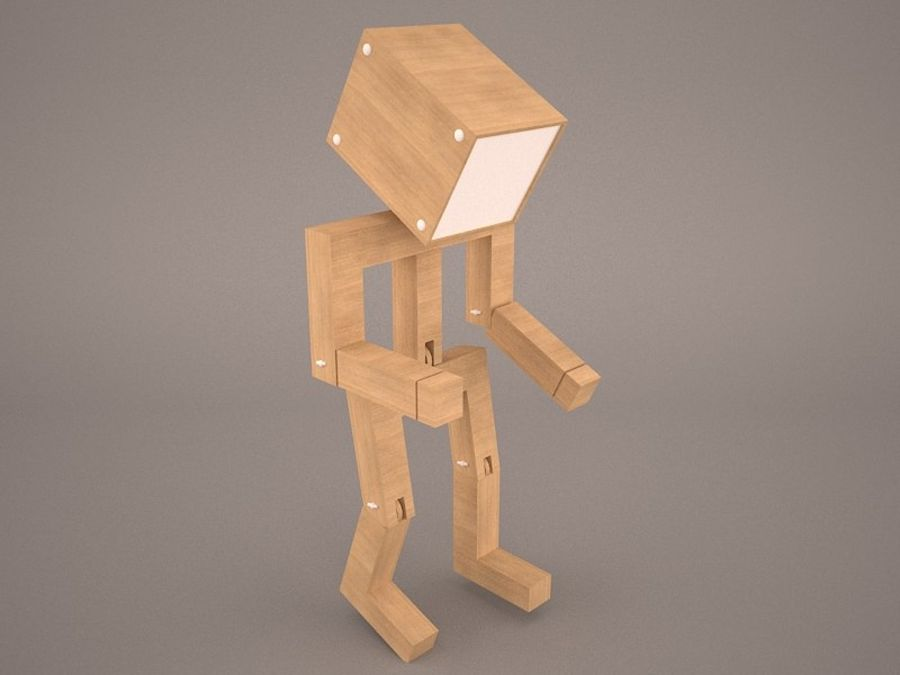 Droid Design Table Lamp royalty-free 3d model - Preview no. 2