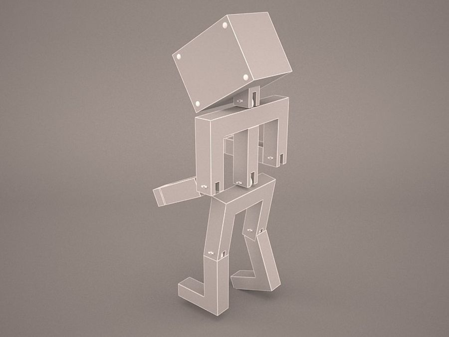 Droid Design Table Lamp royalty-free 3d model - Preview no. 9