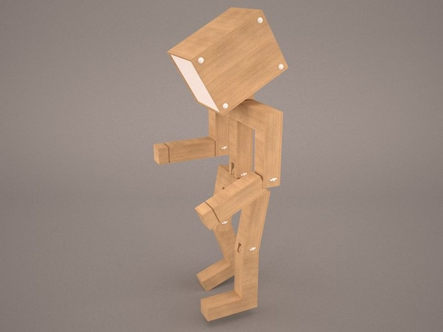 Droid Design Table Lamp royalty-free 3d model - Preview no. 6