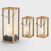 Latarnie Crosby ze świecami filarowymi 3d model