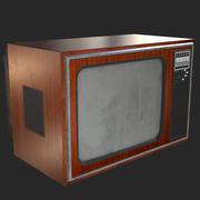 레트로 텔레비전 1970 3d model
