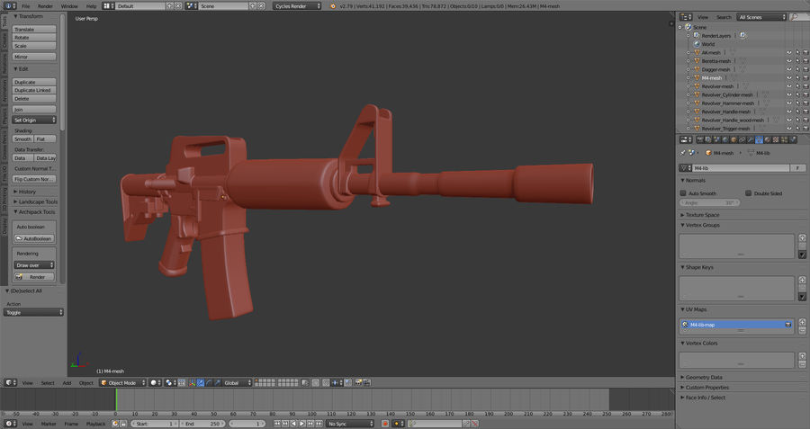 Moderne Waffen royalty-free 3d model - Preview no. 9