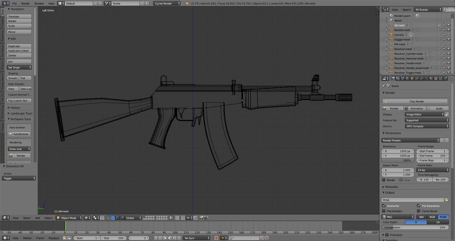 Moderne Waffen royalty-free 3d model - Preview no. 17