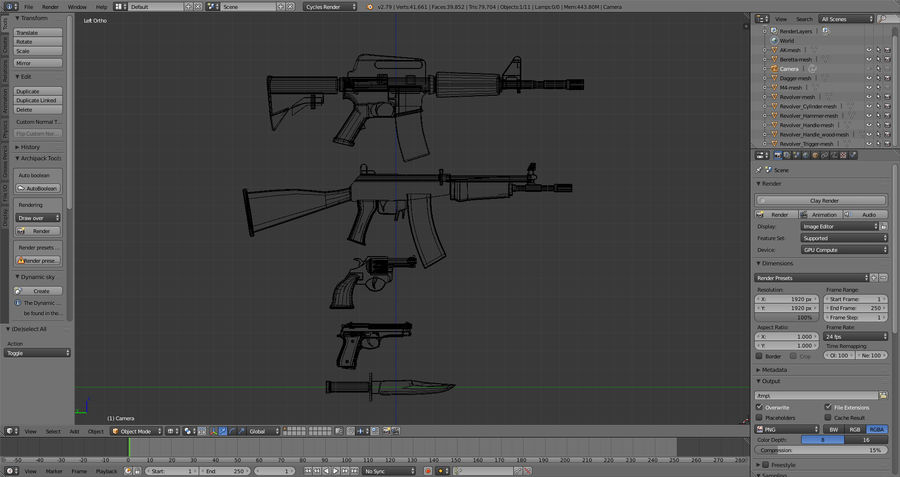 Moderne Waffen royalty-free 3d model - Preview no. 18