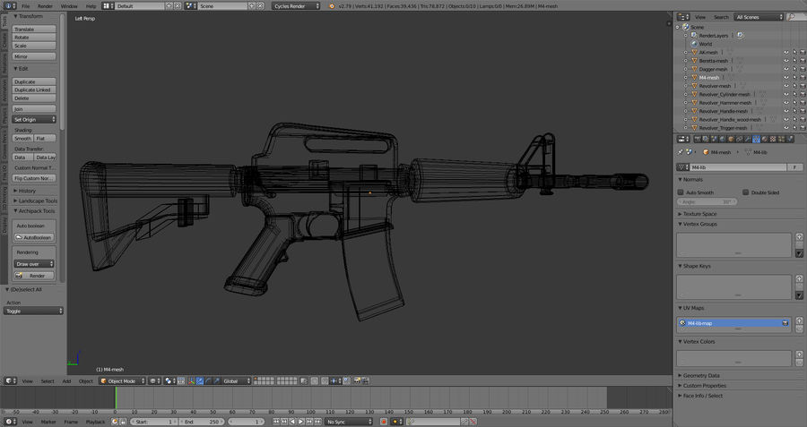 Moderne Waffen royalty-free 3d model - Preview no. 15