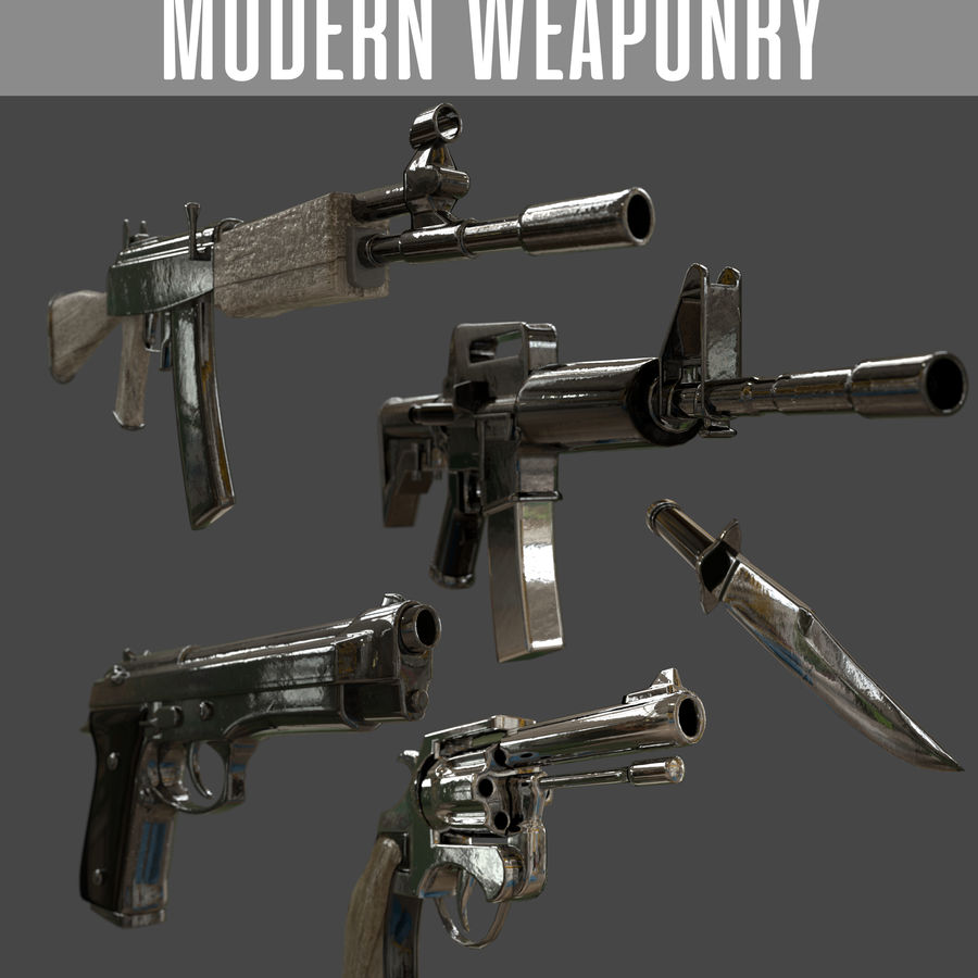 Moderne Waffen royalty-free 3d model - Preview no. 1
