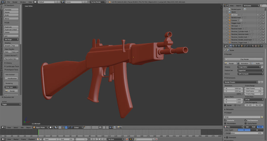 Moderne Waffen royalty-free 3d model - Preview no. 11