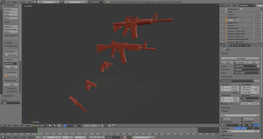 Moderne Waffen royalty-free 3d model - Preview no. 12