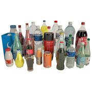 Flaskor och drycker 3d model