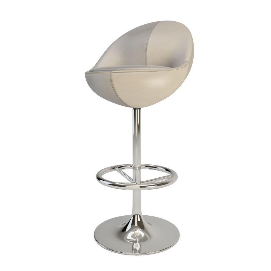 안락 의자와 바 의자 금성 가구 royalty-free 3d model - Preview no. 4