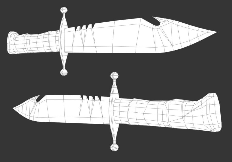 Combat Knife royalty-free 3d model - Preview no. 4