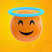Emoji ängel 3d model
