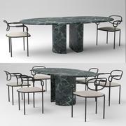 01 stol & Dolmen bord 3d model