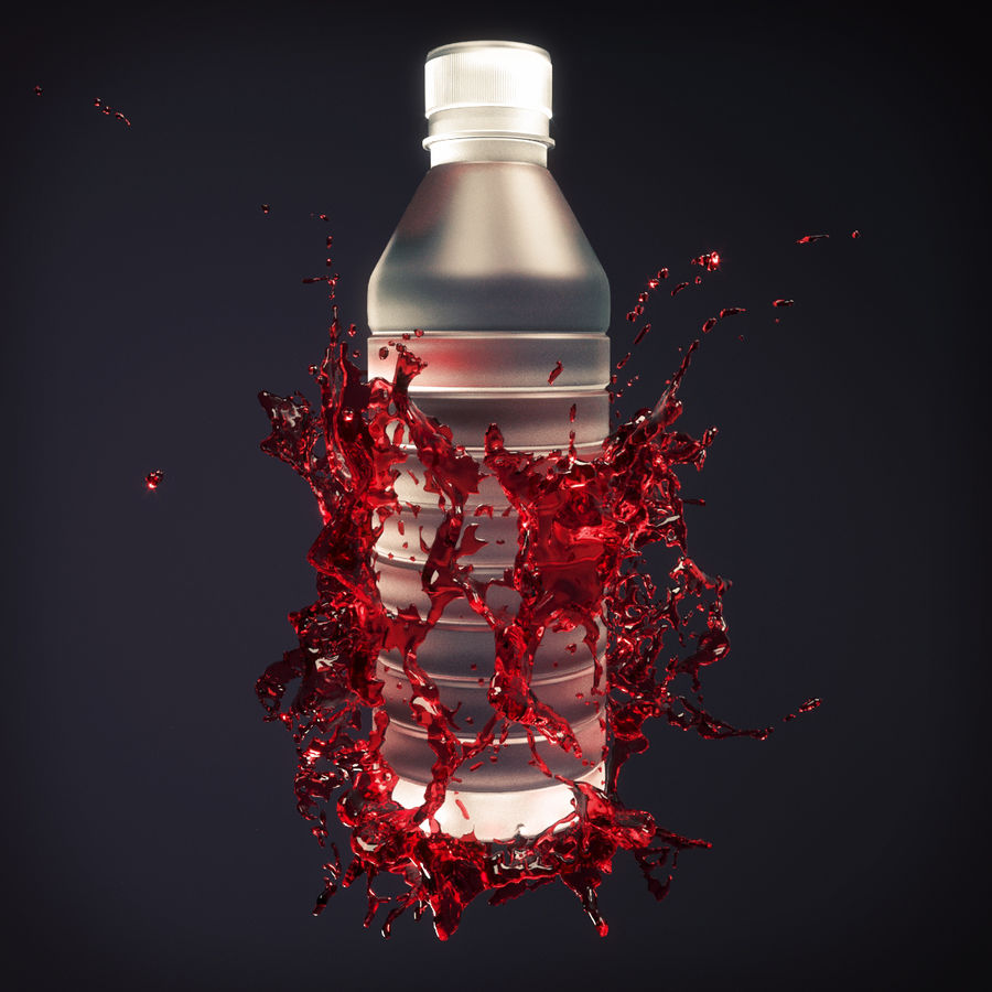 Wasserspritzflasche 5 royalty-free 3d model - Preview no. 4