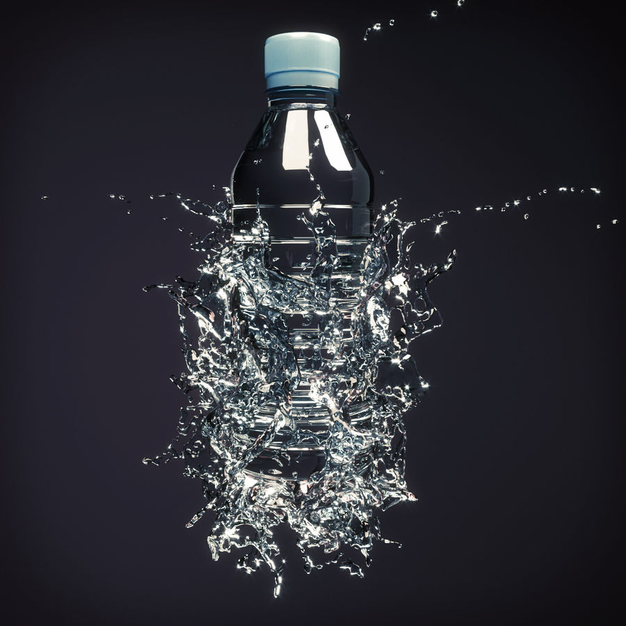 Wasserspritzflasche 5 royalty-free 3d model - Preview no. 1