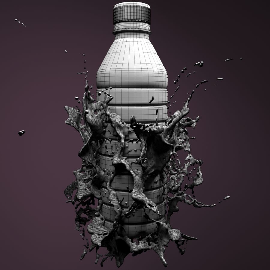 Wasserspritzflasche 5 royalty-free 3d model - Preview no. 5