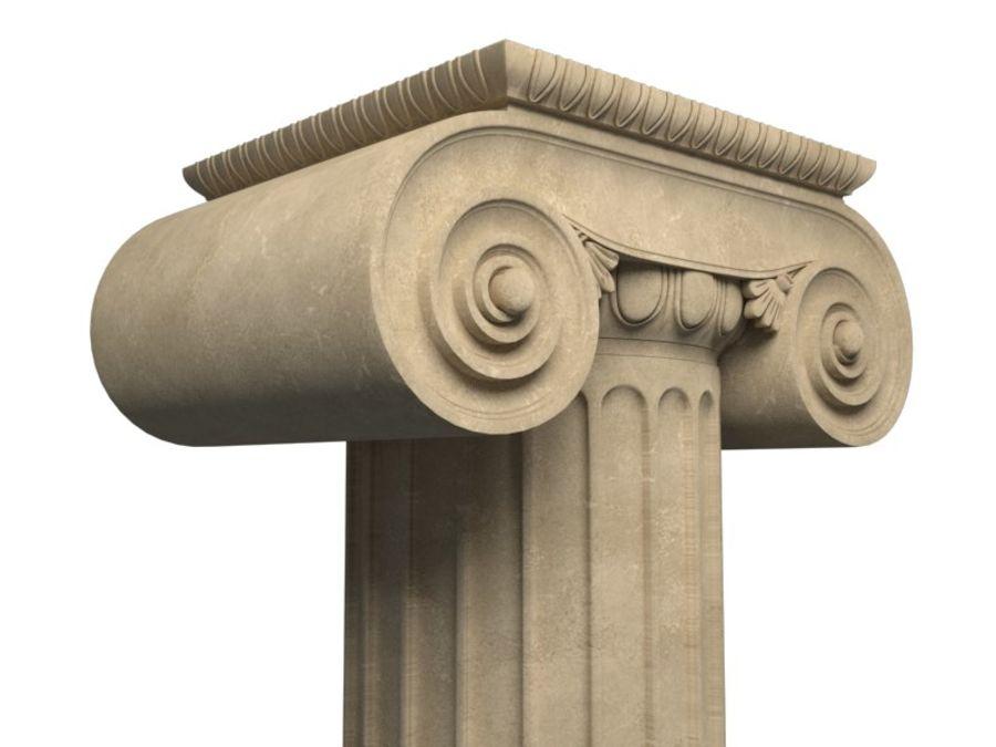 Greek pillar royalty-free 3d model - Preview no. 1