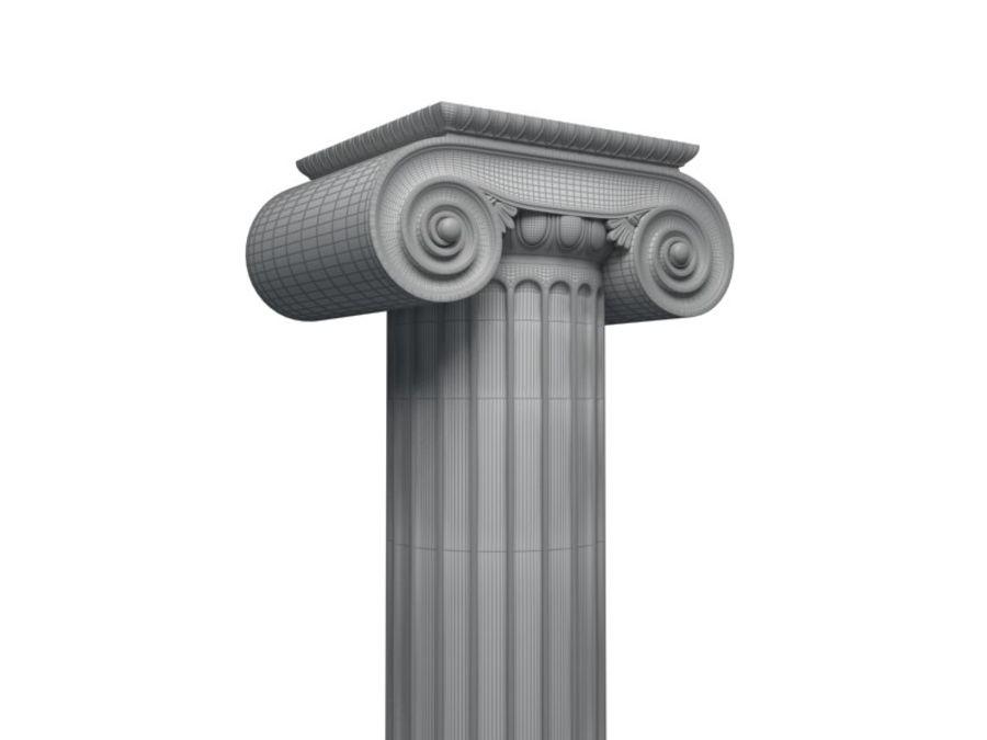 Greek pillar royalty-free 3d model - Preview no. 3