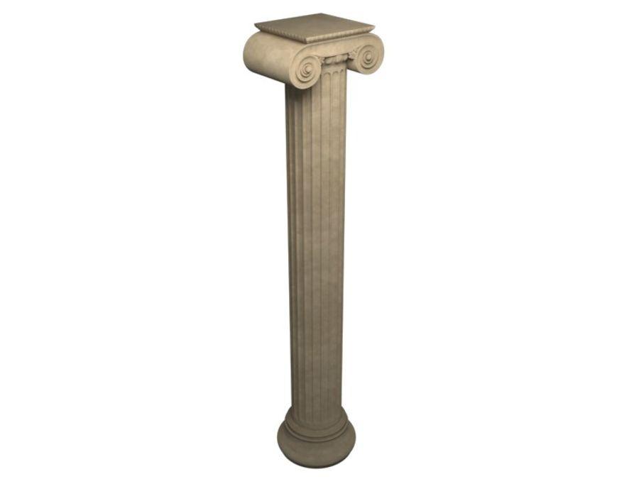 Greek pillar royalty-free 3d model - Preview no. 5