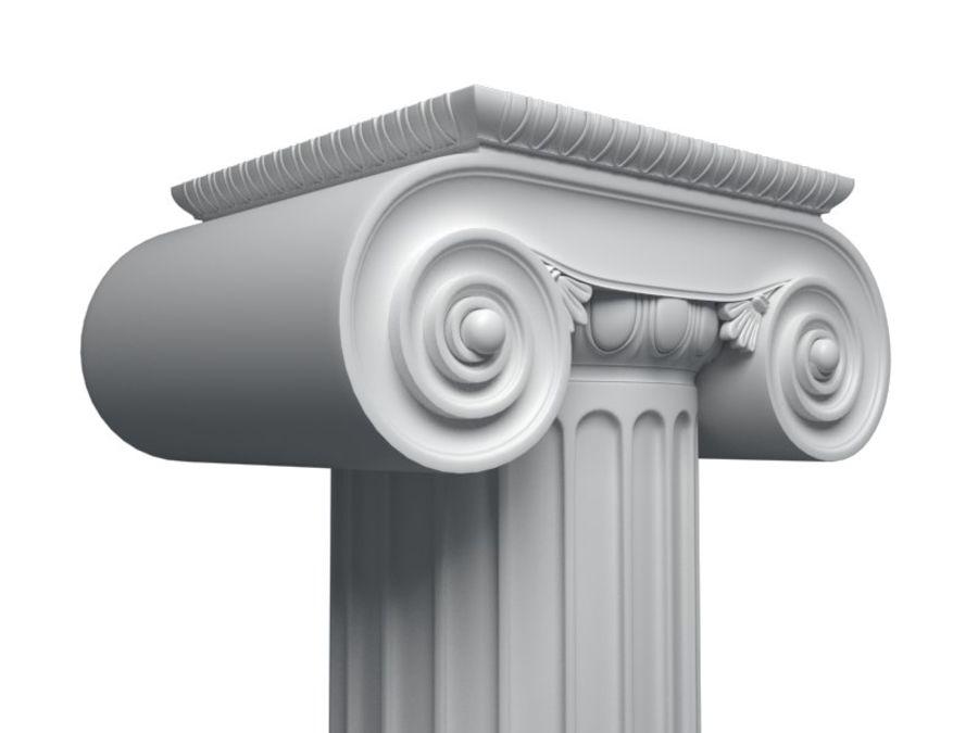 Greek pillar royalty-free 3d model - Preview no. 2
