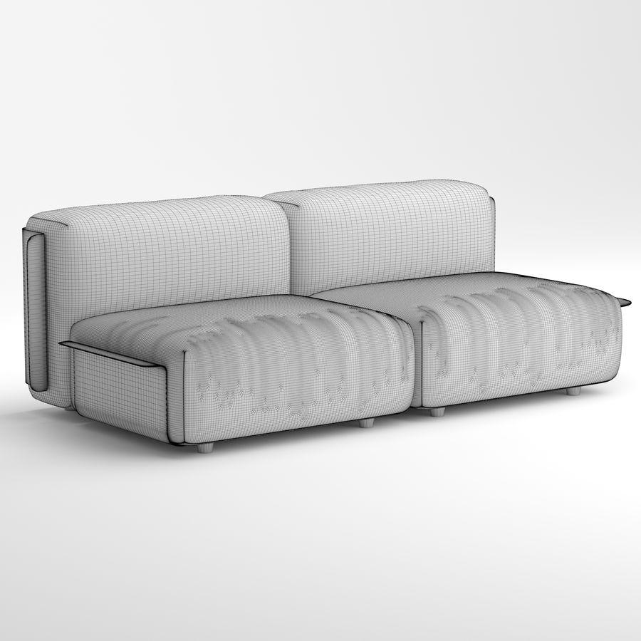 Loom sofa royalty-free 3d model - Preview no. 6