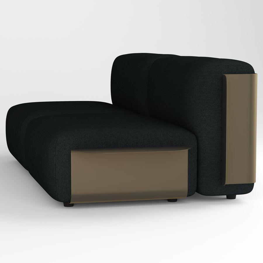 Loom sofa royalty-free 3d model - Preview no. 3