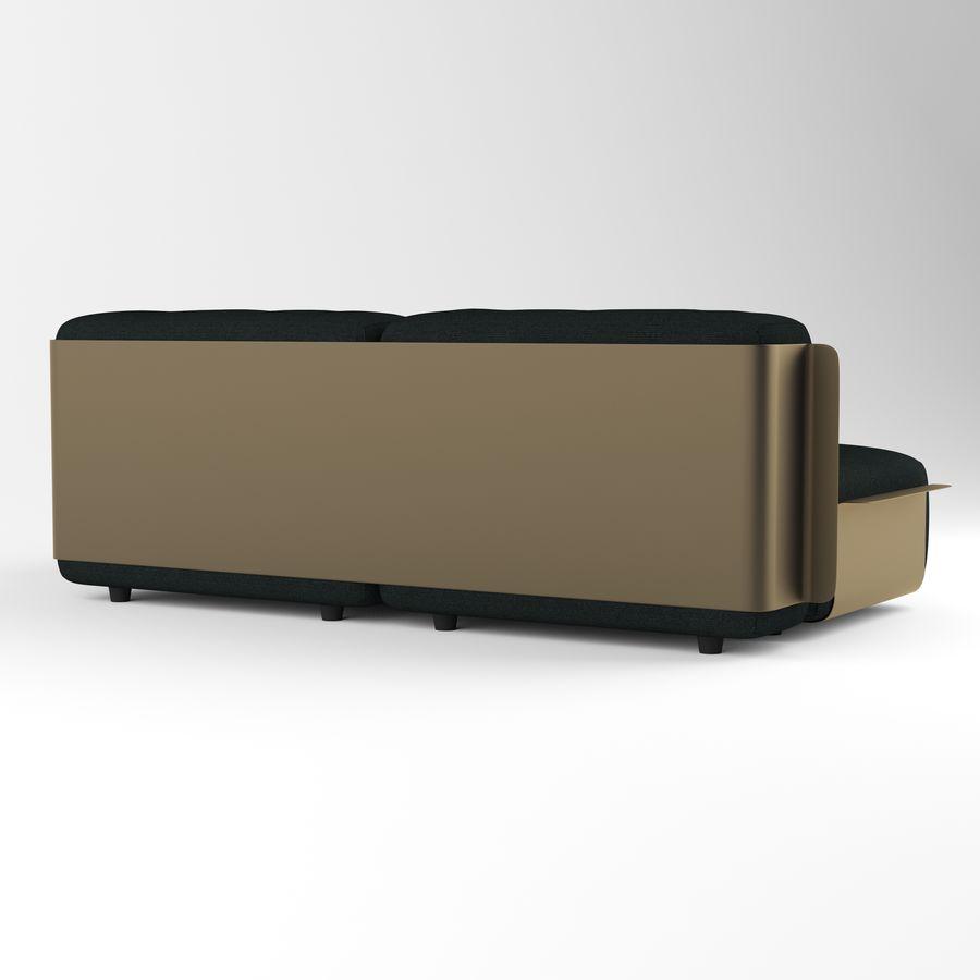 Loom sofa royalty-free 3d model - Preview no. 5