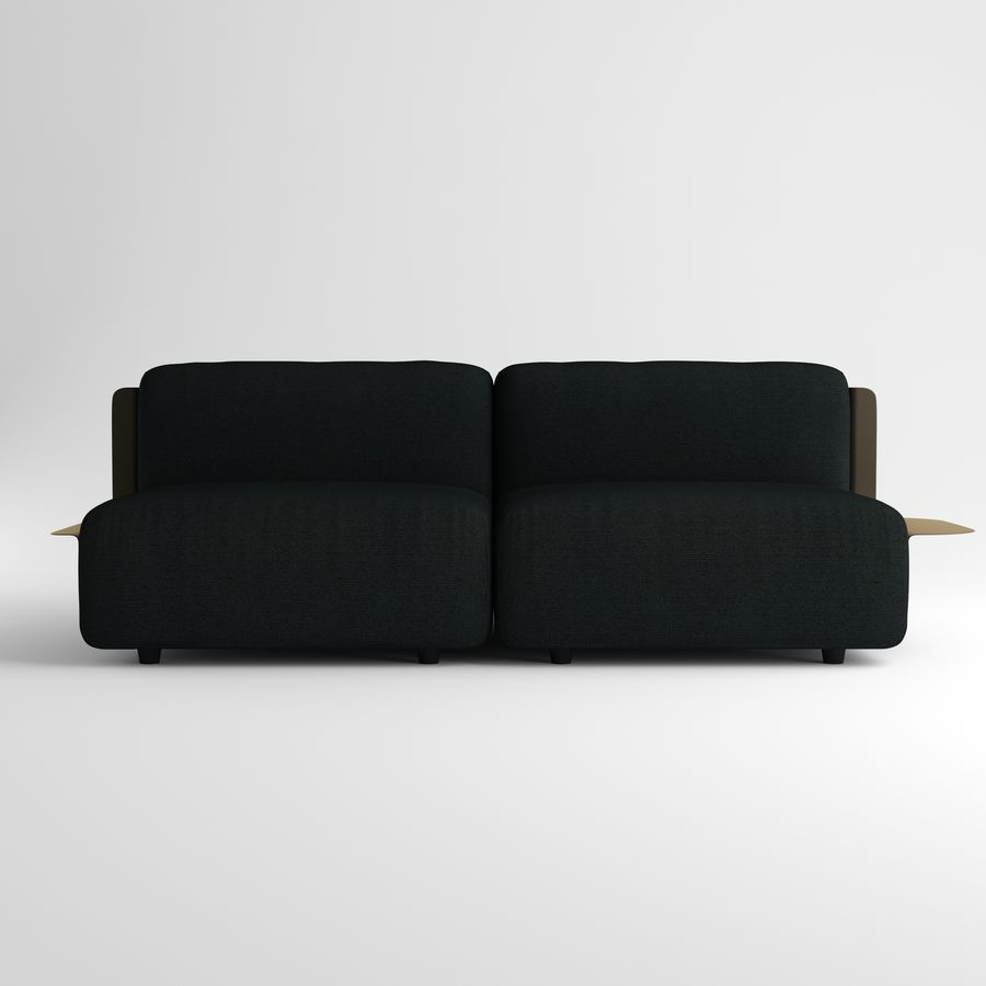 Loom sofa royalty-free 3d model - Preview no. 2