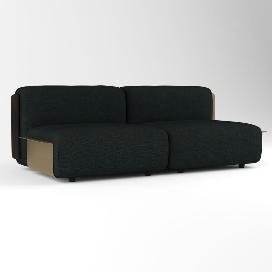 Loom sofa royalty-free 3d model - Preview no. 4
