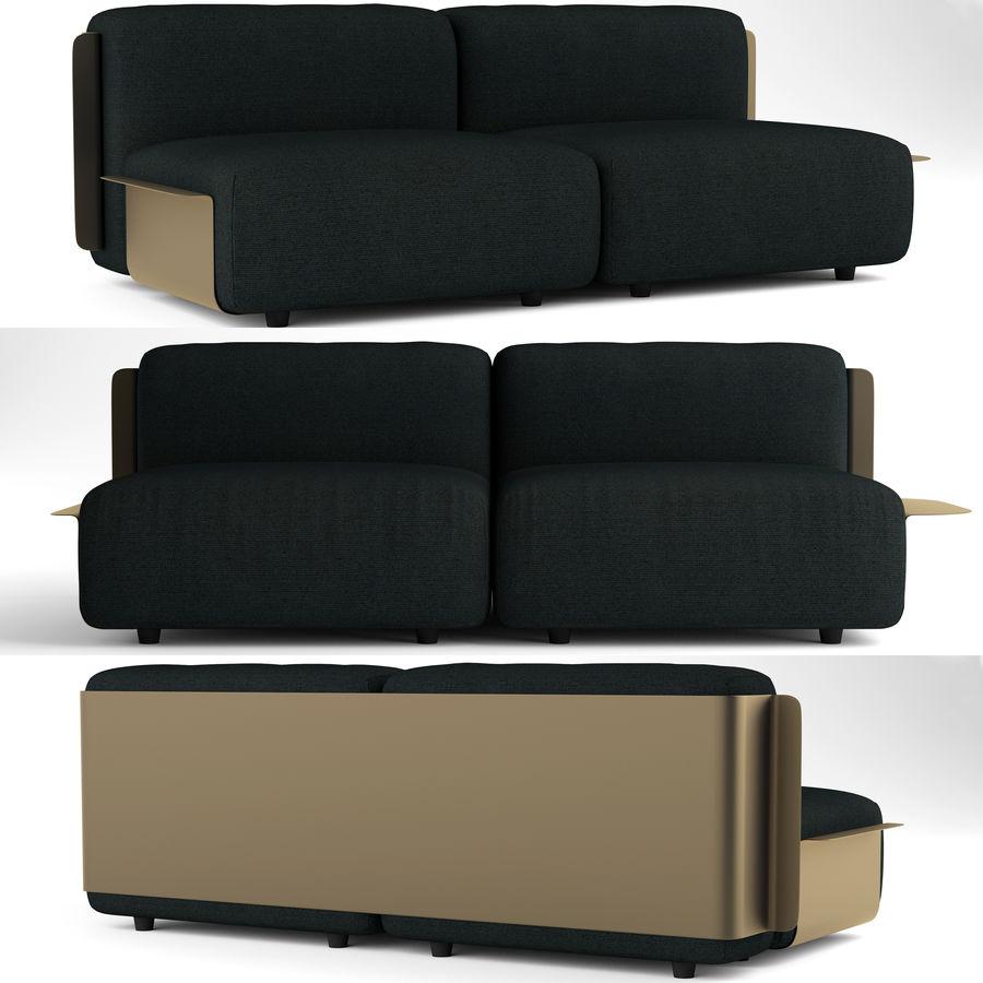 Loom sofa royalty-free 3d model - Preview no. 1