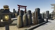 Cemitério Japonês 3d model