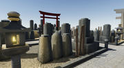 Cementerio japonés modelo 3d
