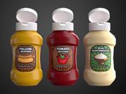 Cartoon Sauce Bottles 3d model