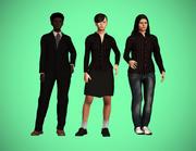 Vrouwelijke personages pack 3d model