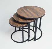 zestaw stolików kawowych 3d model