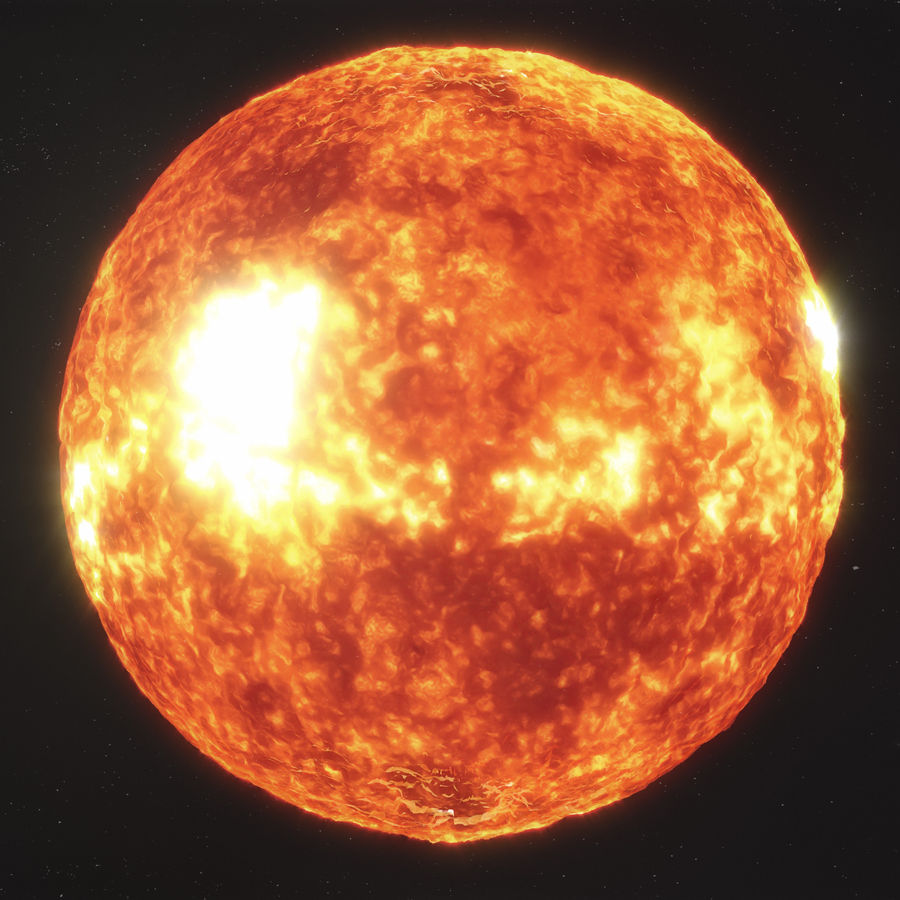 Sun High Poly royalty-free 3d model - Preview no. 8