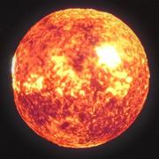 Sun High Poly 3d model